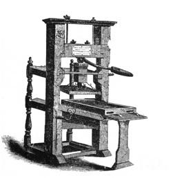 The Gutenberg printing press