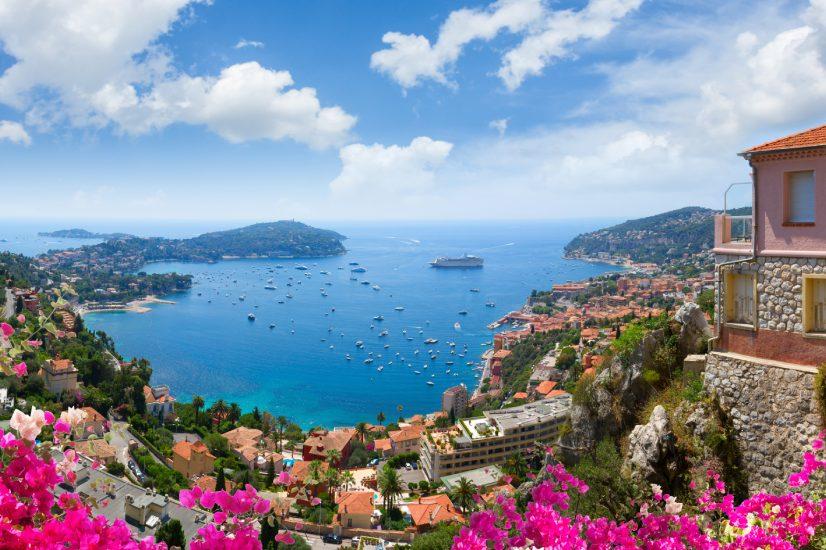 European villa coastline