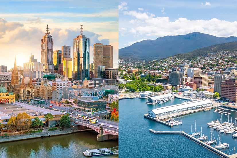 Victoria and Tasmania