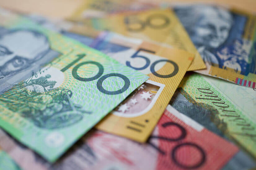Money cash Australian banknotes