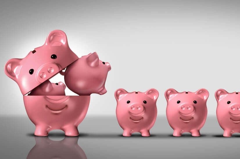 Big piggy banks, small piggy banks
