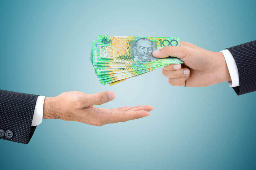 handing off australian dollar cash money cash refunds excess imputation credits