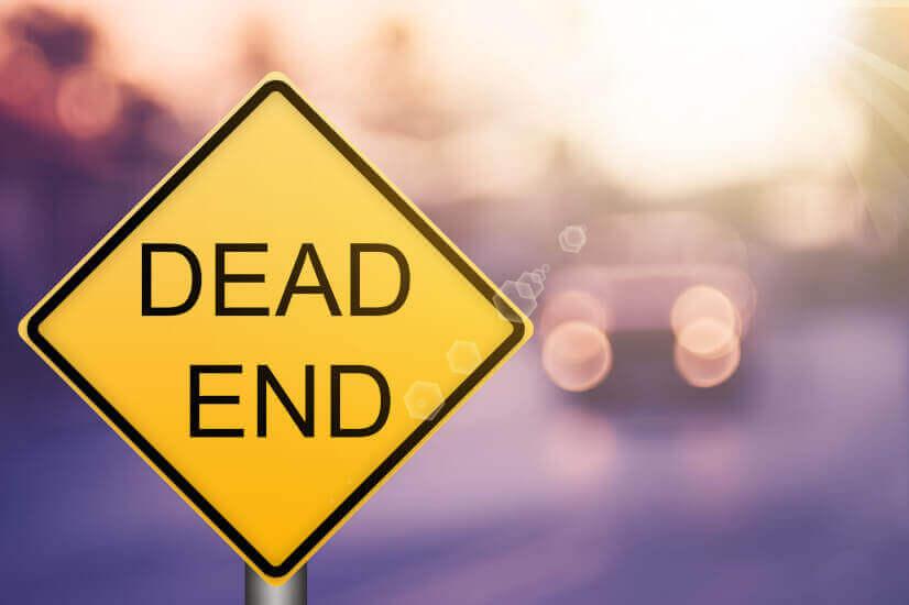 Dead end signage