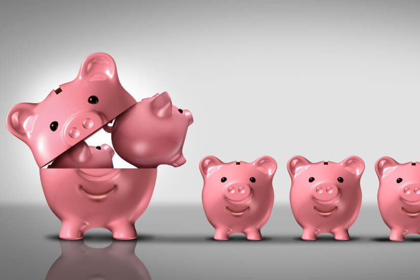 Piggy banks diversification