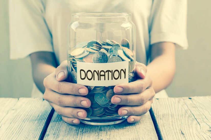 claim my loose change charitable donation