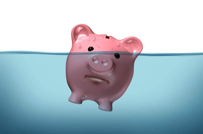 Drowning, keeping your financial head above water