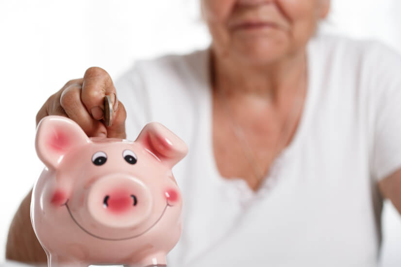 Pension, piggy bank