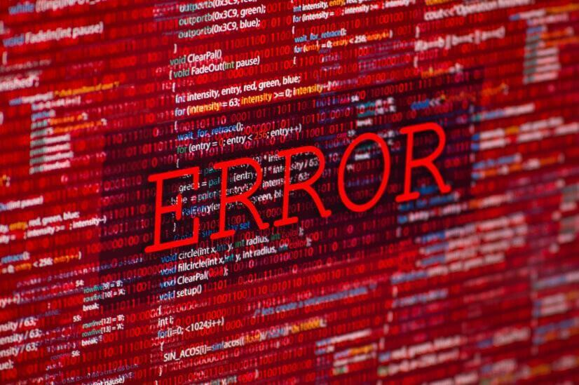 red error warning screen bank error major banks refund clients