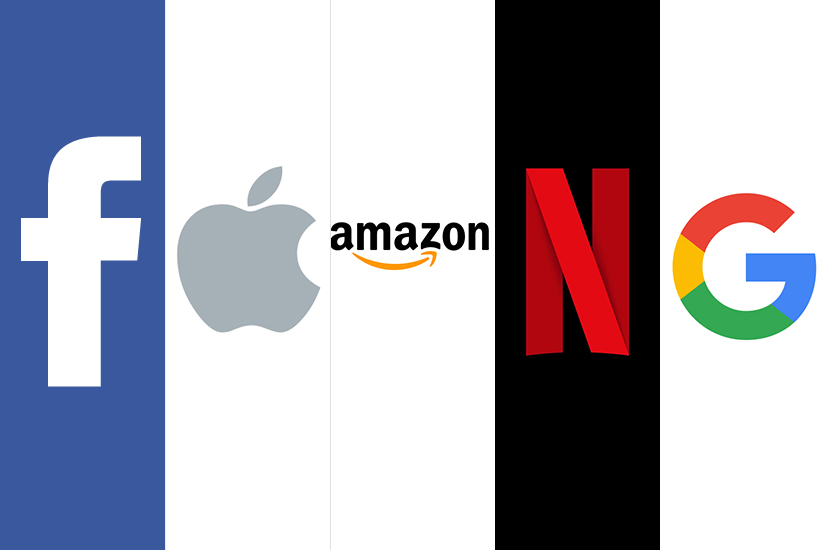 Facebook, Apple, Amazon, Netflix and Google