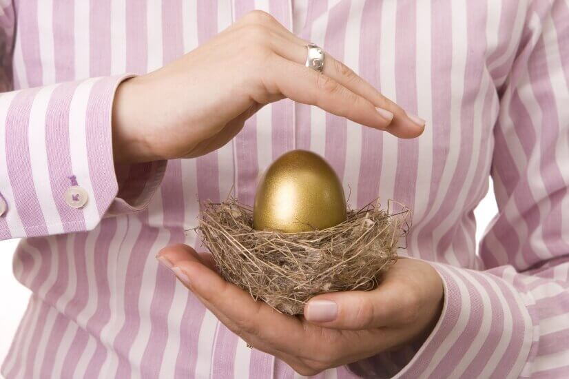Golden egg, lending money, guarantor