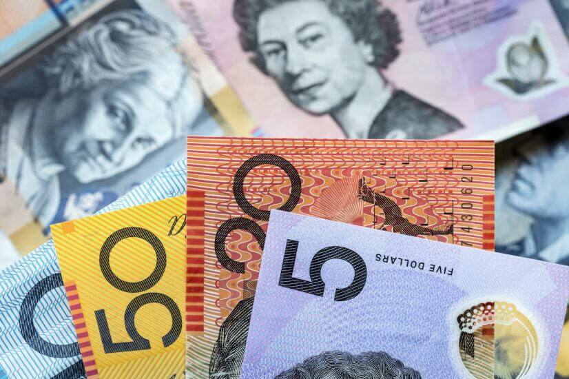 Cash payout Australian dollars