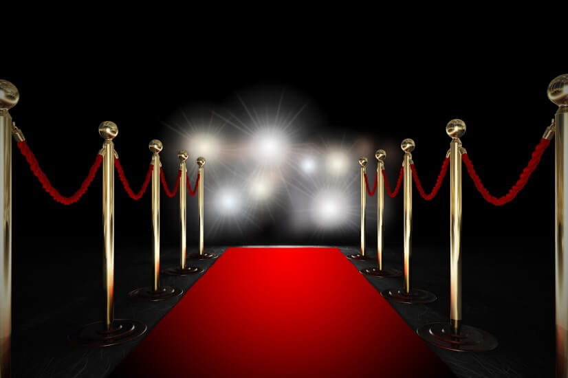 Red carpet, like a celebrity
