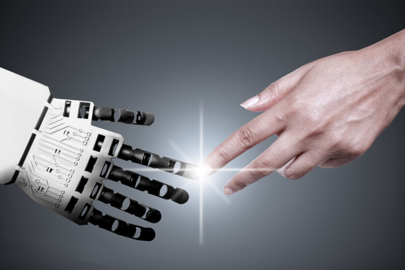 Robot, hand, trust, artificial intelligence