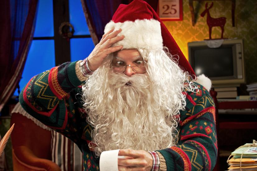 Santa Claus with receipt
