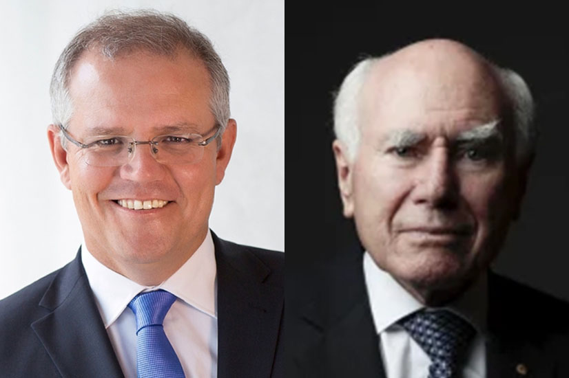 Scott Morrison and John Howard