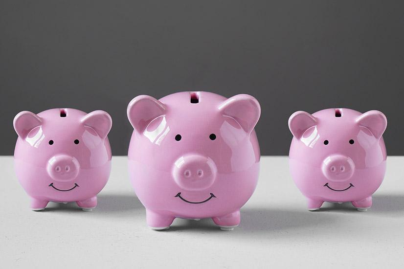 Splitting cash assets