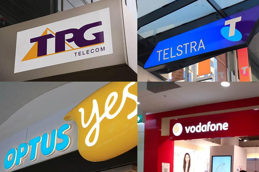 TPG, Telstra, Optus, Vodafone