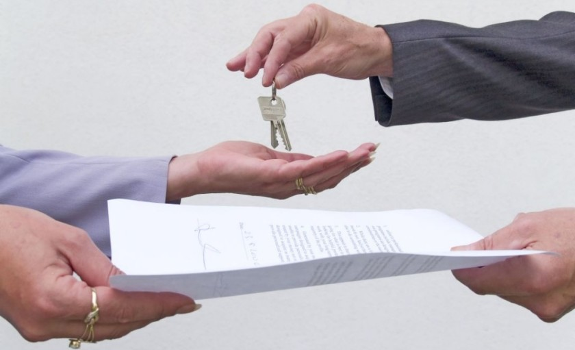 Property contract and keys