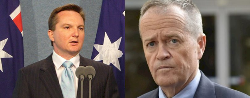 Chris Bowen and Bill Shorten