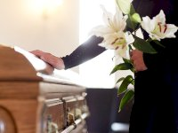 Coffin at funeral