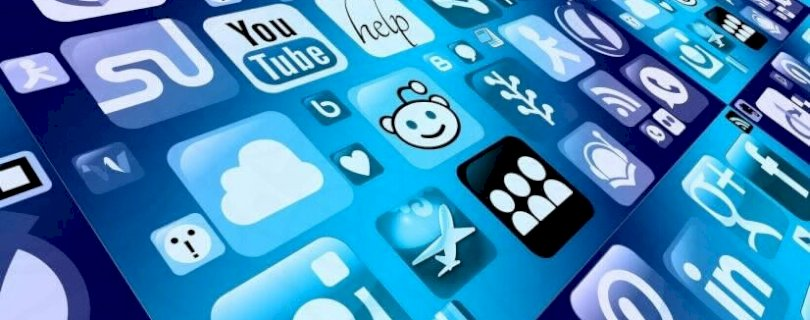 Social media apps, digital world
