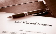 The granting of probate and finalising of an estate