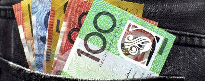 Money, Australian dollars, money on a pocket