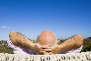 Man relaxes in his retirement
