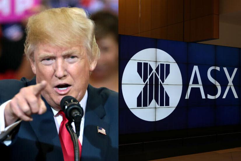 Donald Trump and ASX signage